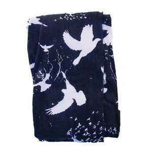 Pants - Black Leggings White Doves Owls Crows Birds Small